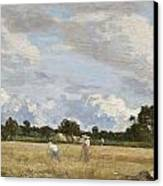 Haymaking Canvas Print by Eugene Louis Boudin
