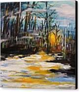 Hazy Nightfall Canvas Print