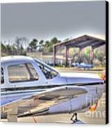 Hdr Airplane Looks Plane From Afar Under Canopy Canvas Print