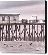 Hdr Beach Beaches Ocean Sea Seaview Black White Photos Pictures Photographs Photography Photo Pics Canvas Print