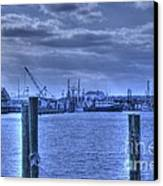 Hdr Fishing Boat Across The Jetty Canvas Print by Pictures HDR