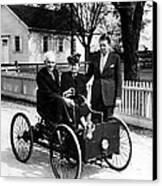 Henry Ford In His First Automobile Canvas Print by Everett