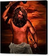 Hephaestus Canvas Print by Lourry Legarde