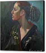 Her Kimono Canvas Print by Lilibeth Andre