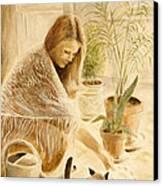 Here Kitty Canvas Print by Rita Bentley