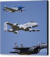 Heritage Flight Wings Over Whitman Canvas Print by Linda Gardner-Goos