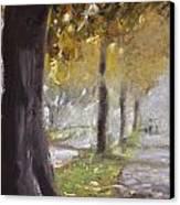 Herne Bay Park Fog 1 Canvas Print
