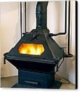High Efficiency Multi-fuel Stove Canvas Print by Mark Sykes