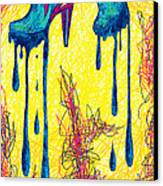 High Heels Abstraction Dripping Canvas Print
