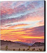 High Park Wildfire Sunset Sky Canvas Print