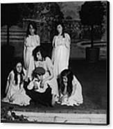 High School Play, Original Caption Miss Canvas Print