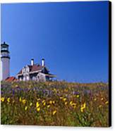 Highland Lighthouse Cape Cod Canvas Print by Skip Willits