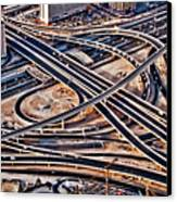 Highway Intersection Of Canvas Print