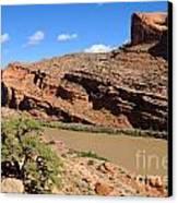 Hiking The Moab Rim Canvas Print