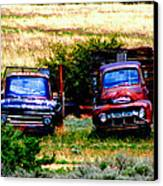 Hill Billy Used Auto Sales Canvas Print by Andrea Camp