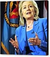 Hillary Clinton, Us Secretary Of State Canvas Print