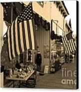 Historic Niles District In California Near Fremont . Main Street . Niles Boulevard . 7d10692 . Sepia Canvas Print by Wingsdomain Art and Photography