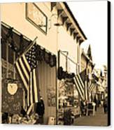 Historic Niles District In California Near Fremont . Main Street . Niles Boulevard . 7d10693 . Sepia Canvas Print by Wingsdomain Art and Photography