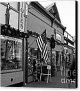 Historic Niles District In California Near Fremont . Main Street . Niles Boulevard . 7d10701 . Bw Canvas Print by Wingsdomain Art and Photography
