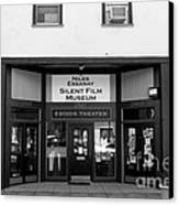 Historic Niles District In California Near Fremont . Niles Essanay Silent Film Museum . 7d10683 Bw Canvas Print
