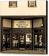 Historic Niles District In California Near Fremont . Niles Essanay Silent Film Museum.7d10683.sepia Canvas Print by Wingsdomain Art and Photography