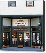 Historic Niles District In California Near Fremont . Niles Essanay Silent Film Museum.edison Theater Canvas Print