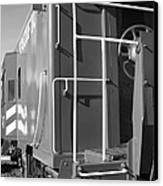 Historic Niles District In California Near Fremont . Western Pacific Caboose Train . 7d10622 . Bw Canvas Print by Wingsdomain Art and Photography