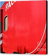 Historic Niles District In California Near Fremont . Western Pacific Caboose Train . 7d10724 Canvas Print