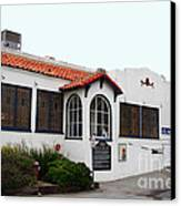 Historical Moss Beach Distillery At Half Moon Bay . 7d8168 Canvas Print by Wingsdomain Art and Photography