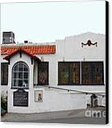 Historical Moss Beach Distillery At Half Moon Bay . 7d8172 Canvas Print by Wingsdomain Art and Photography