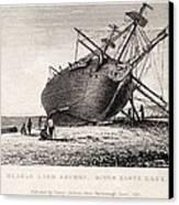 Hms Beagle Ship Laid Up Darwin's Voyage Canvas Print by Paul D Stewart