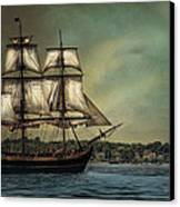 Hms Bounty Canvas Print by Robin-Lee Vieira