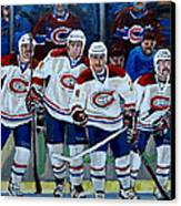Hockey Art At Bell Center Montreal Canvas Print