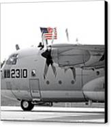Hoisting The Colors Canvas Print by Greg Fortier