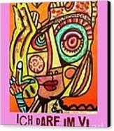Hole In My Head - Yiddish Canvas Print