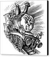Holiday Train, Conceptual Artwork Canvas Print by Bill Sanderson