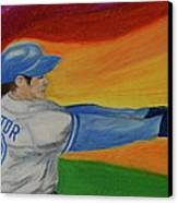Home Run Swing Baseball Batter Canvas Print by First Star Art