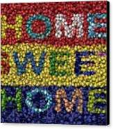 Home Sweet Home Bottle Cap Mosaic  Canvas Print by Paul Van Scott
