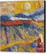 Hommage To Van Gogh Canvas Print by Nicole Besack