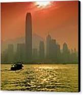 Hong Kong Sunset Canvas Print