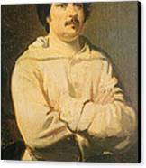Honore De Balkzac, French Author Canvas Print
