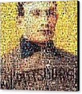 Honus Wagner Mosaic Canvas Print by Paul Van Scott