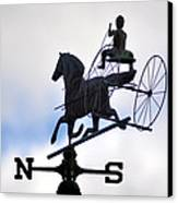 Horse And Buggy Weather Vane Canvas Print by Bill Cannon