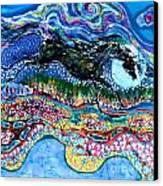 Horse Born Of Moon Energy Canvas Print by Carol Law Conklin