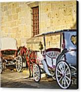 Horse Drawn Carriages In Guadalajara Canvas Print