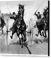Horse Racing, 1890 Canvas Print
