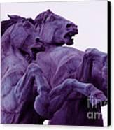 Horse Sculptures Canvas Print by Angel  Tarantella