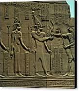 Horus Donant El BastÓ Del Poder Al FaraÓ Canvas Print