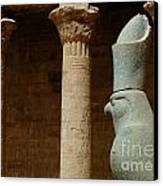 Horus Temple Of Edfu Egypt Canvas Print by Bob Christopher