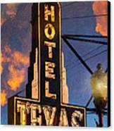 Hotel Texas Canvas Print by Jeff Steed